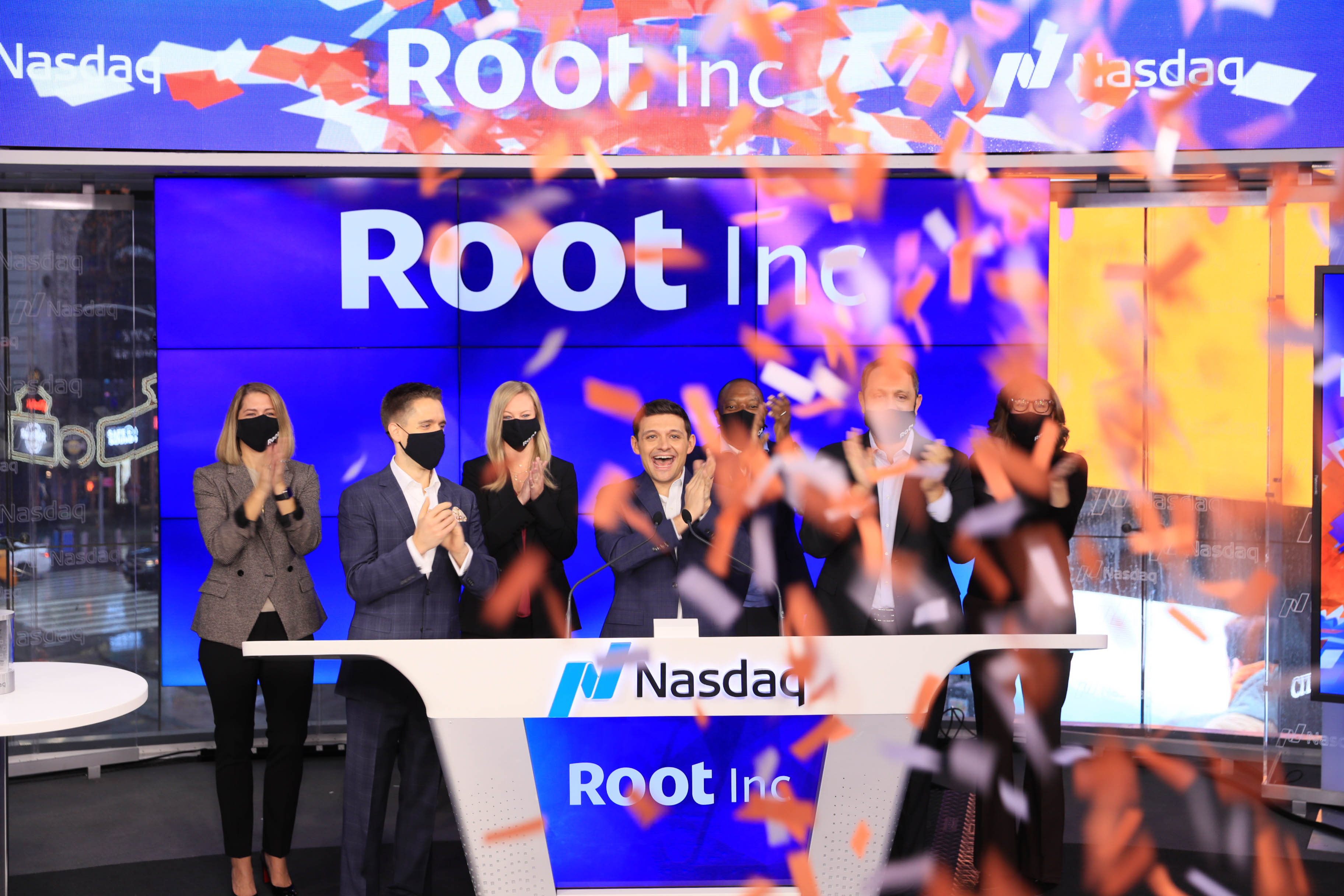 Root IPO celebrations, October 28, 2020